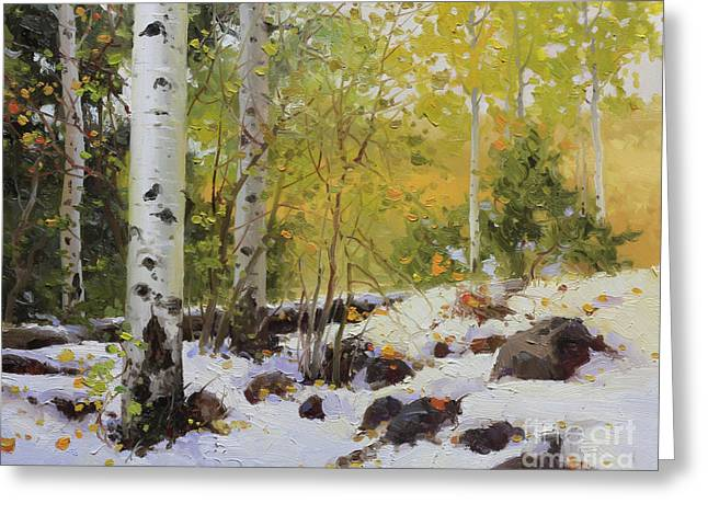 National Paintings Greeting Cards - Winter beauty Sangre de Mountain 2 Greeting Card by Gary Kim