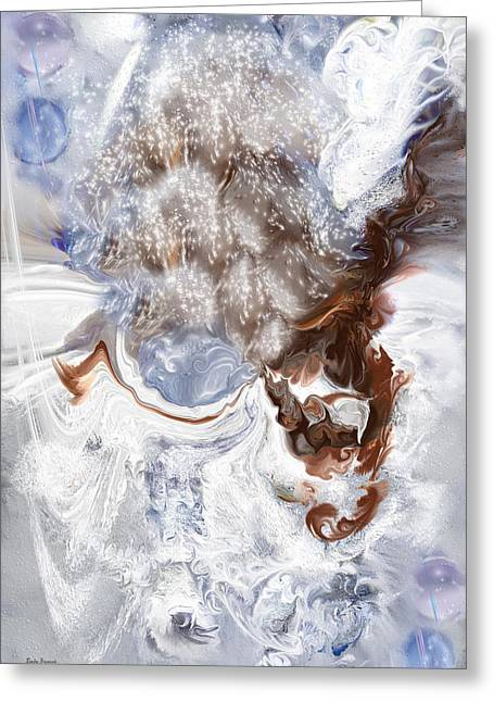 Abstract Expression Greeting Cards - Winter Bliss Greeting Card by Linda Sannuti