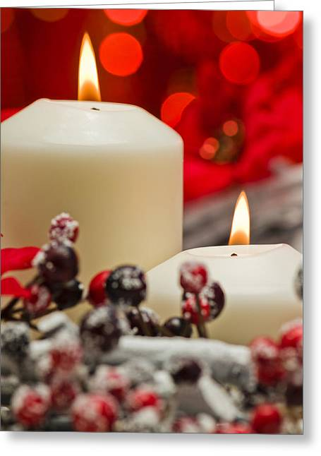 Twinkle Greeting Cards - Winter Candles Greeting Card by Ulrich Schade