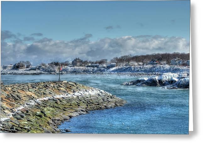 Winter Coastline - Rockport Ma Greeting Card by Joann Vitali