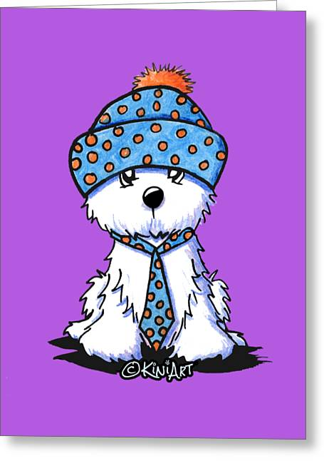 Winter Coton In Co-tones Greeting Card by Kim Niles