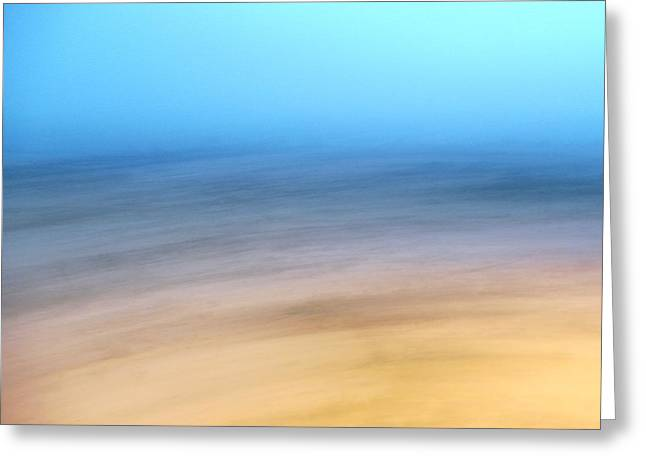 Beige Abstract Greeting Cards - Winter Countryside at Dusk Greeting Card by Greg Sawyer