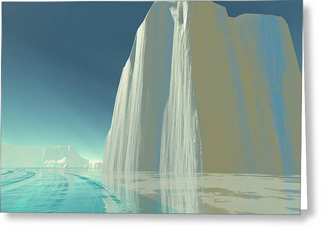 Winter Crystal Greeting Card by Corey Ford