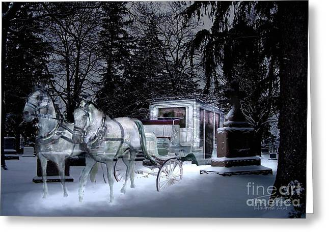 Paranormal Digital Greeting Cards - Winter Departure   Greeting Card by Tom Straub
