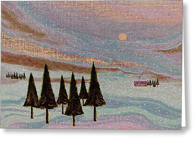 Fir Trees Greeting Cards - Winter Dream Greeting Card by Gordon Beck