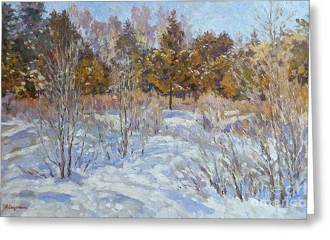Andrey Greeting Cards - Winter etude Greeting Card by Andrey Soldatenko