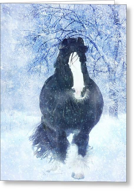 Winter Faith Greeting Card by Jamie Mammano
