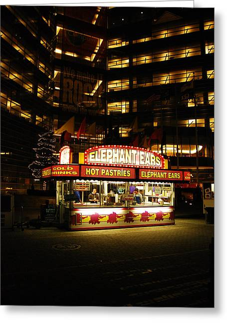 Food Vendors Greeting Cards - Winter Festival Greeting Card by Michael Peychich