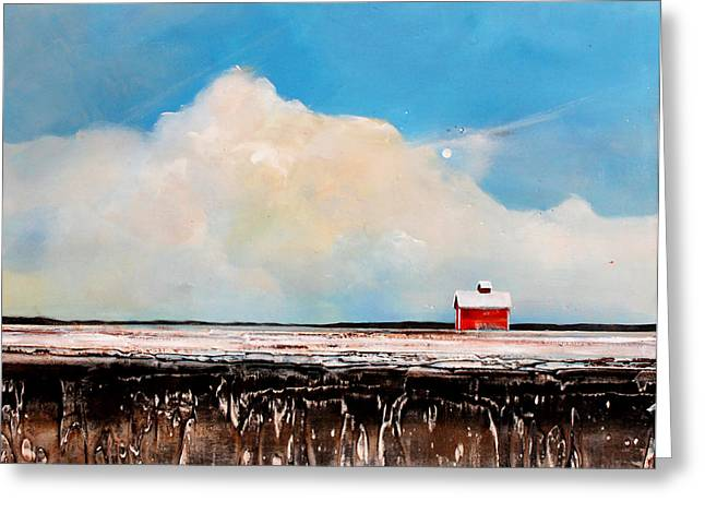 Field. Cloud Greeting Cards - Winter Fields Greeting Card by Toni Grote