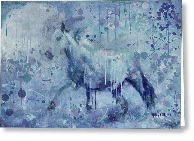 Winter Flurry Greeting Card by Greg Collins