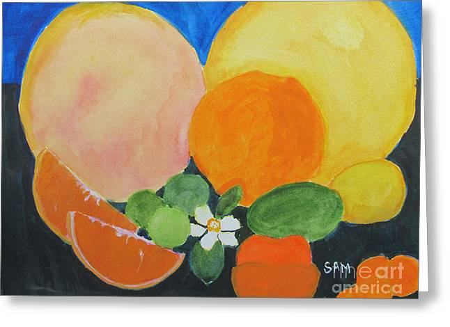 Harvest Time Greeting Cards - Winter Fruit Greeting Card by Sandy McIntire