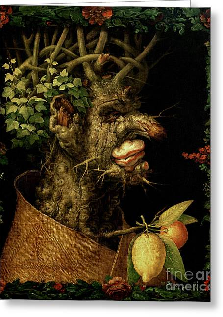 Winter Greeting Card by Giuseppe Arcimboldo