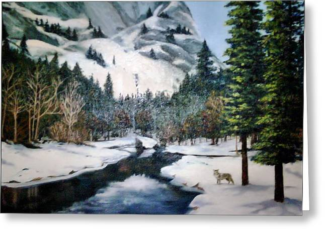 Winter Half Dome Greeting Card by Beverly Johnson