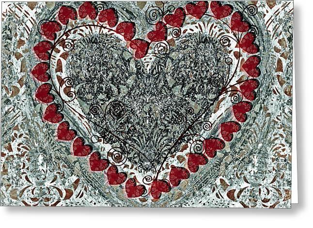 Winter Heart Greeting Card by Frank Tschakert