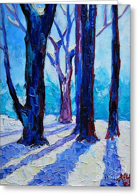 Life Experience Greeting Cards - Winter Impression Greeting Card by Ana Maria Edulescu