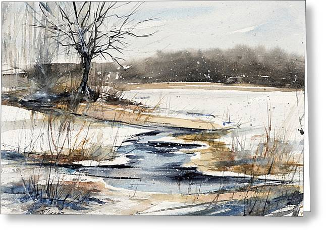 Winter In Caz Greeting Card by Judith Levins