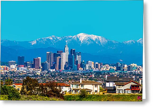 Winter Night Greeting Cards - Winter in Los Angeles Greeting Card by Art K