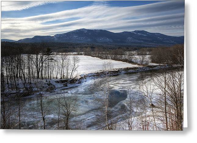 Moat Mountain Greeting Cards - Winter in North Conway Greeting Card by Eric Gendron