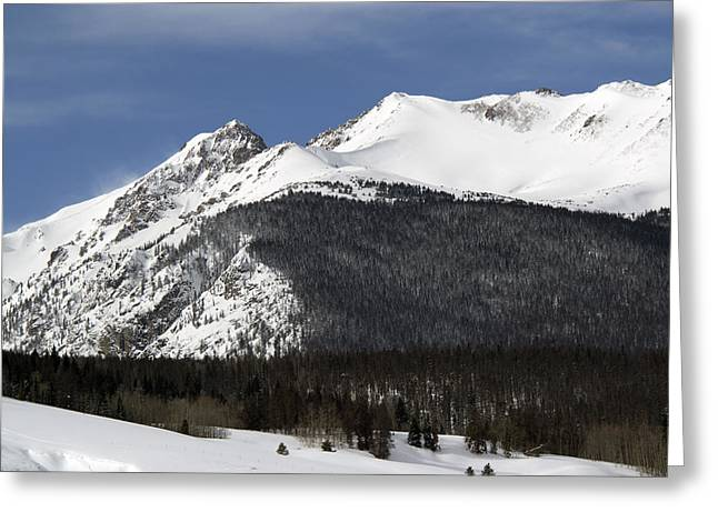 Summit County Greeting Cards - Winter in Summit County Colorado Greeting Card by Brendan Reals