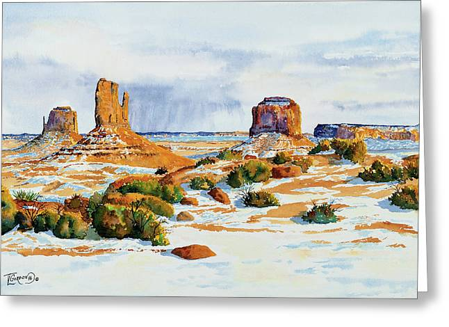 Winter In The Valley Greeting Card by Timithy L Gordon
