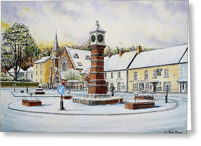 United Kingdom Greeting Cards Greeting Cards - Winter In Twyn Square Greeting Card by Andrew Read