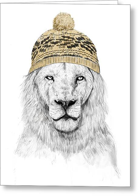 Lions Greeting Cards - Winter is coming Greeting Card by Balazs Solti