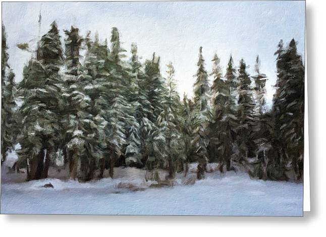 Winter Storm Greeting Cards - Winter Greeting Card by Jonathan Nguyen
