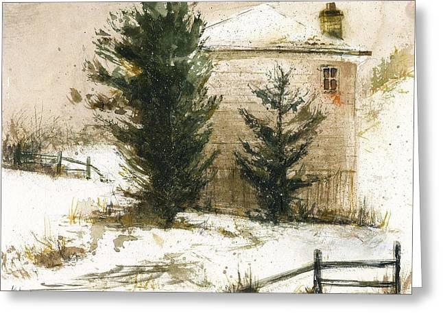 Winter Greeting Card by Kristina Vardazaryan