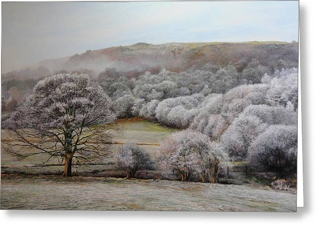 Winter Landscape Greeting Card by Harry Robertson