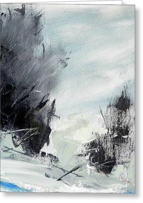 Abstract Nature Greeting Cards - Winter Landscape I Greeting Card by Jacquie Gouveia