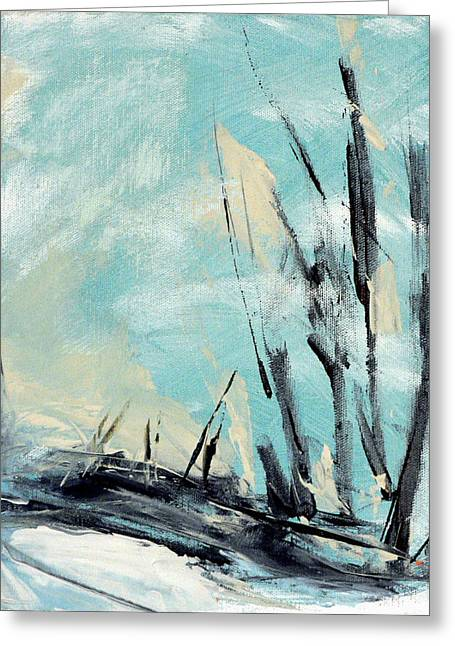 Abstract Nature Greeting Cards - Winter Landscape III Greeting Card by Jacquie Gouveia