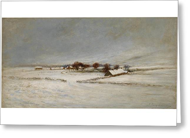 Winter Landscape Greeting Card by Joseph Farquharson