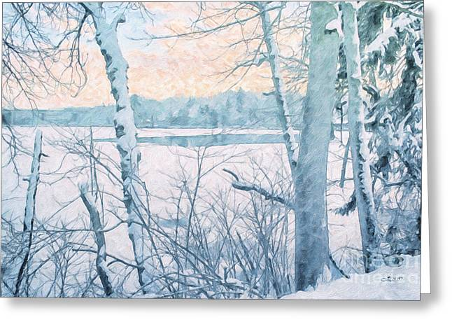 Winter Photos Greeting Cards - Winter Landscape Greeting Card by Jutta Maria Pusl