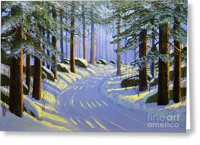 Winter Landscape Study 1 Greeting Card by Frank Wilson