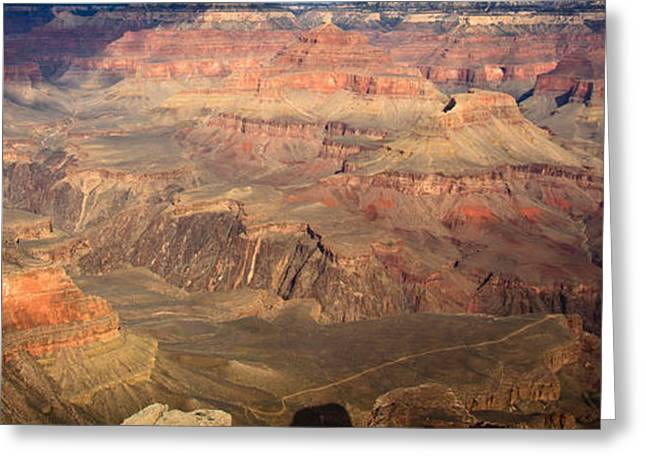Layers Greeting Cards - Winter light in Grand Canyon Greeting Card by Olivier Steiner