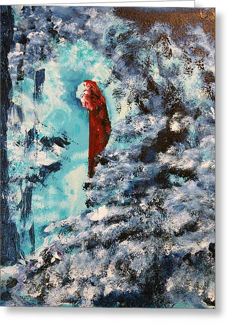 Winter Maiden Greeting Card by Joshua Englehaupt