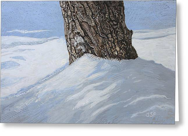 Winter Storm Paintings Greeting Cards - Winter Mast Greeting Card by J S  Ferguson