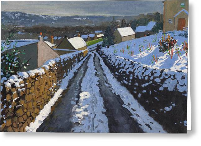 Lane Greeting Cards - Winter Middleton Derbyshire Greeting Card by Andrew Macara