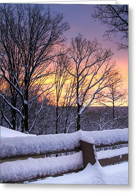 Winter Morning Greeting Card by Tom and Pat Cory