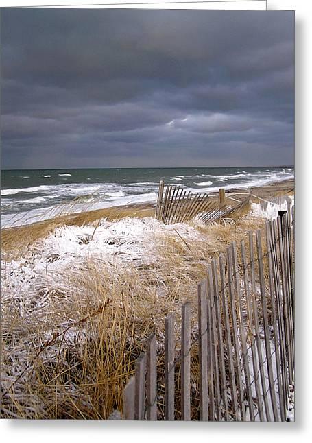 Recently Sold -  - Winter Storm Greeting Cards - Winter on Cape Cod Greeting Card by Charles Harden