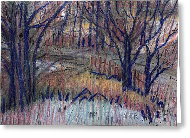 Winter Pastels Greeting Cards - Winter on Dickson Road Greeting Card by Donald Maier