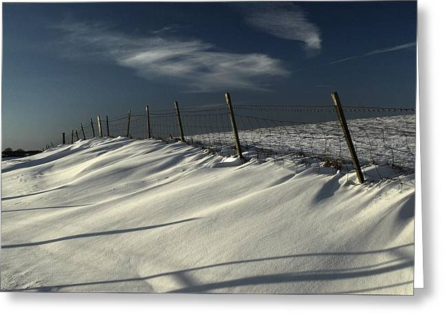 Winter On The South Downs Greeting Card by Hazy Apple