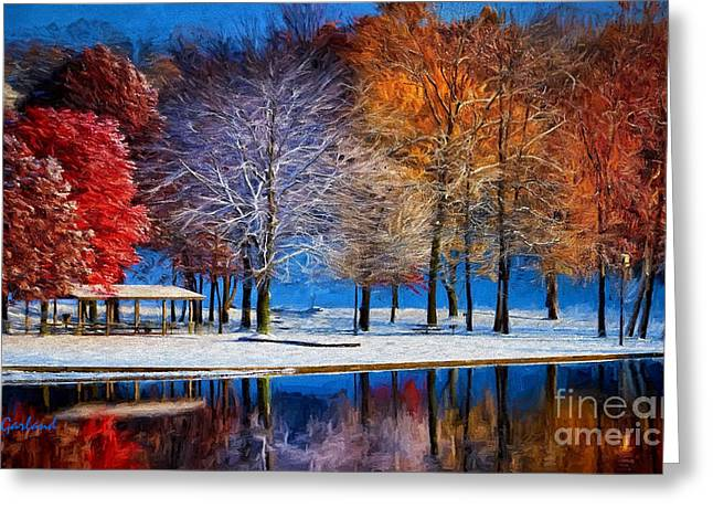 Winter Park Greeting Card by Garland Johnson