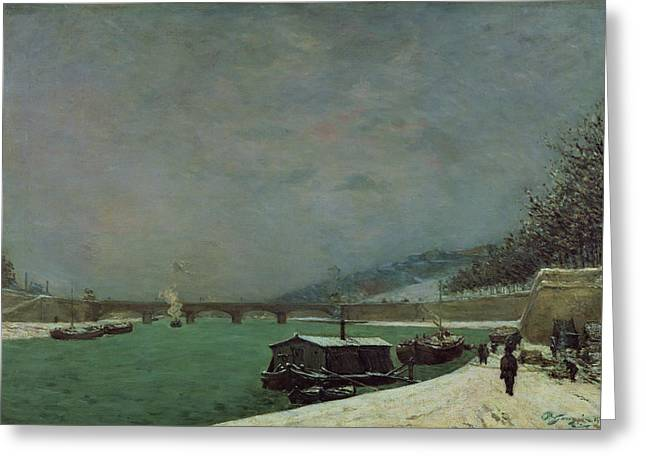 Cold Water Greeting Cards - Winter Greeting Card by Paul Gauguin