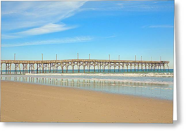 Beach Photography Greeting Cards - Winter Pier Greeting Card by April Ann Canada Photography