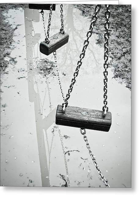Winter Playground Greeting Card by Tom Gowanlock