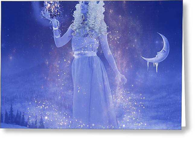 Winter Queen Greeting Card by Juli Scalzi