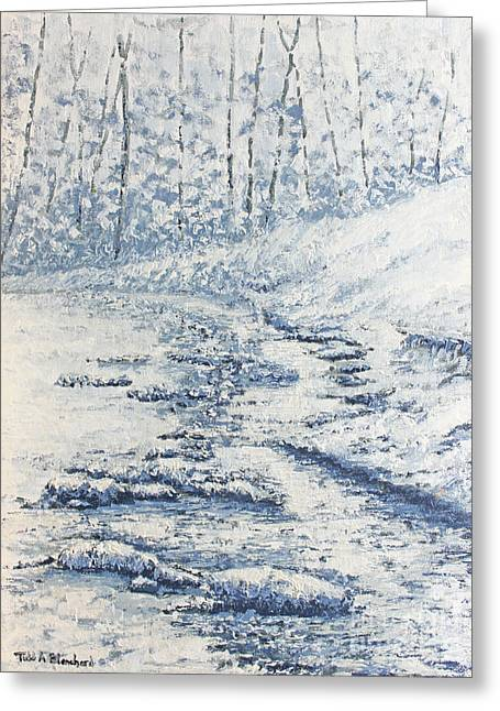 Tennessee River Paintings Greeting Cards - Winter River II Greeting Card by Todd A Blanchard
