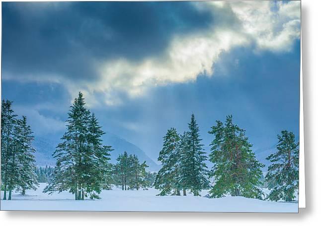 Winter Scene - New Hampshire Greeting Card by Joseph Smith
