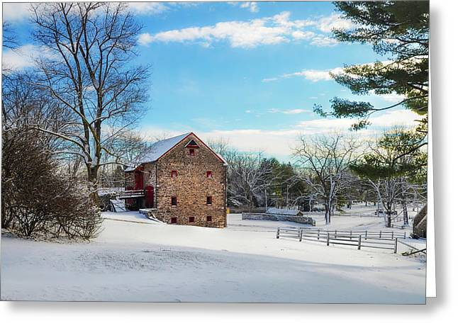 Winter Scene On A Pennsylvania Farm Greeting Card by Bill Cannon